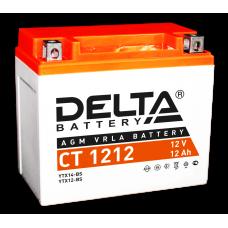 Аккумулятор DELTA CT 1212 AGM 12 (мото) YTX14-BS