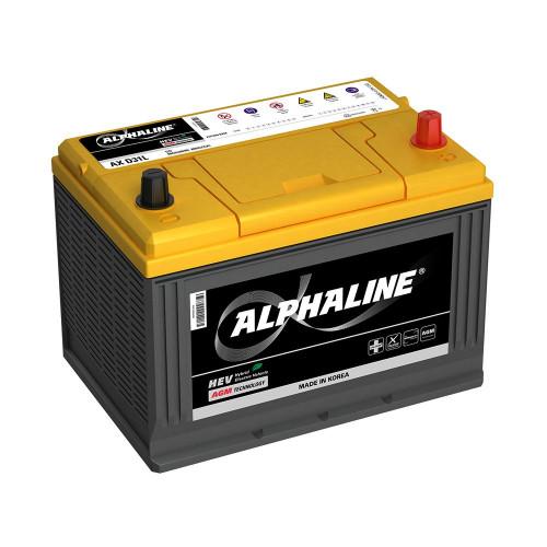 Автомобильный аккумулятор ALPHALINE AGM AX D26L 75 Ah