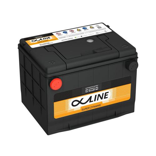 Автомобильный аккумулятор AlphaLine Super Dynamic 80 Ач (MF75-650) D23 Боковые клеммы