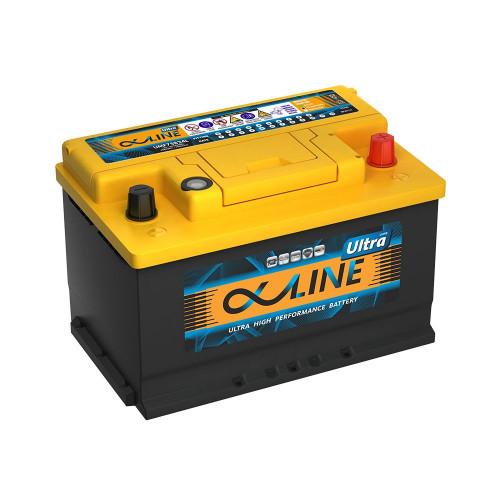Автомобильный аккумулятор AlphaLine Ultra 74 Ач (UMF57400) LB3