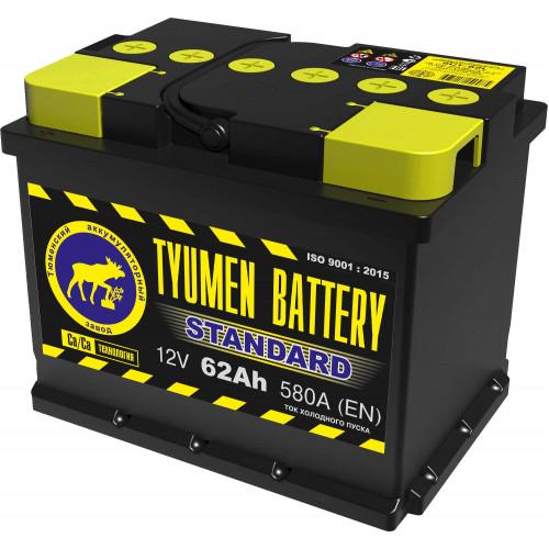 Тюменский аккумулятор TYUMEN BATTERY STANDARD 6СТ-62L 62 Ah