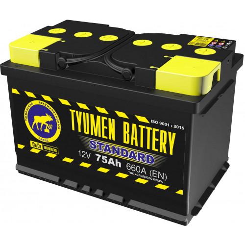 Тюменский аккумулятор TYUMEN BATTERY STANDARD 6СТ-75L 75 Ah