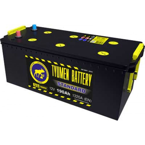 Тюменский аккумулятор TYUMEN BATTERY STANDARD 6СТ-190L 190 Ah