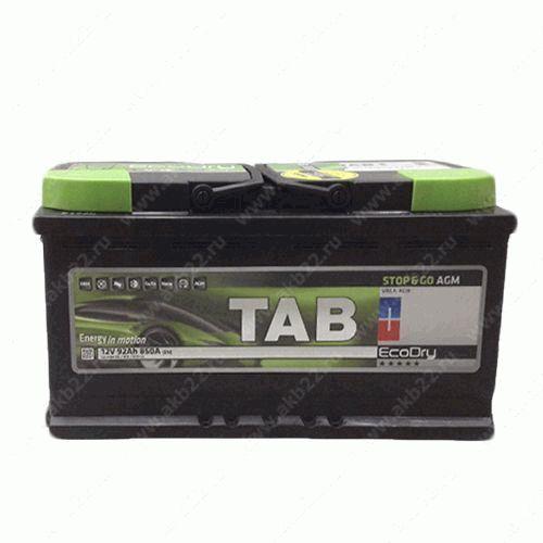 Автомобильный аккумулятор Tab ECODRY Stop&Go AGM 95