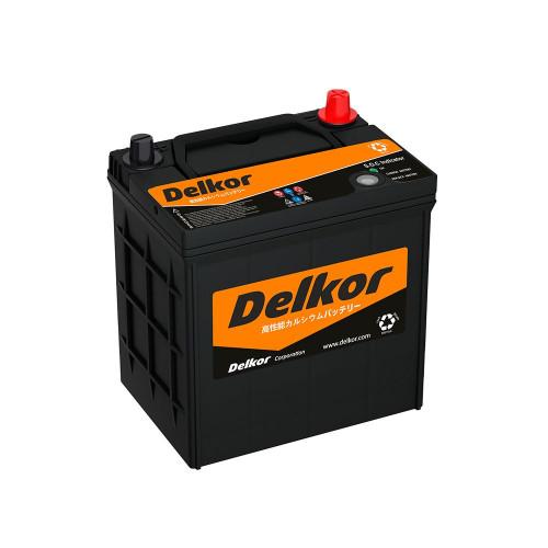 Аккумулятор DELKOR (JP) 46B19L 40Ah для азиатских авто с тонкими клеммами обр