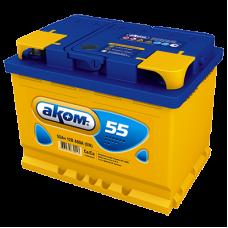 Автомобильный аккумулятор АКОМ 6СТ-55 55 Ач