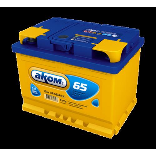 Автомобильный аккумулятор АКОМ 6СТ-65 65 Ач