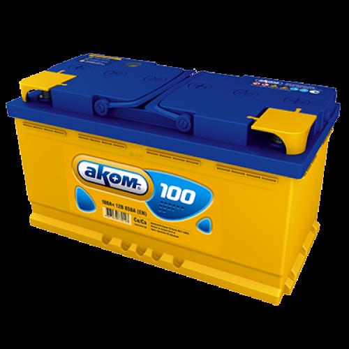 Автомобильный аккумулятор АКОМ 6СТ-100 100 Ач