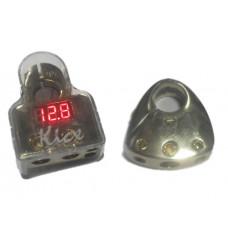 Клеммы с индикатором тока заряда